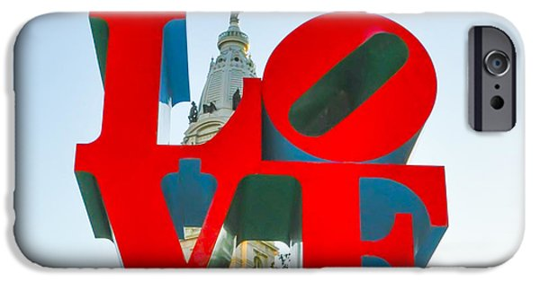 City Hall Behind The Love Statue IPhone Case by Bill Cannon