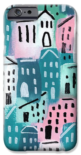 City Stories- Church On The Hill IPhone Case by Linda Woods