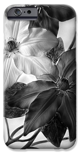 Clematis Overlay IPhone Case by Jessica Jenney