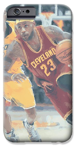 Cleveland Cavaliers Lebron James 3 IPhone 6s Case by Joe Hamilton