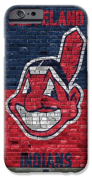 Cleveland Indians Brick Wall IPhone Case by Joe Hamilton