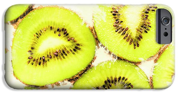 Close Up Of Kiwi Slices IPhone 6s Case by Jorgo Photography - Wall Art Gallery