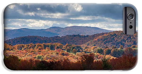 Cloudland Road Vermont Fall Foliage IPhone Case by Jeff Folger