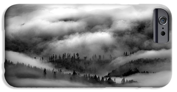 Coastal Range Bw IPhone Case by Leland D Howard