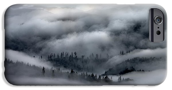 Coastal Range Ocean Fog IPhone Case by Leland D Howard