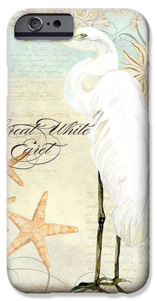 Coastal Waterways - Great White Egret 3 IPhone 6s Case by Audrey Jeanne Roberts