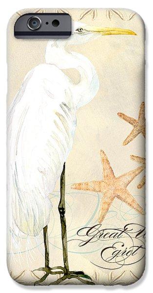 Coastal Waterways - Great White Egret IPhone Case by Audrey Jeanne Roberts