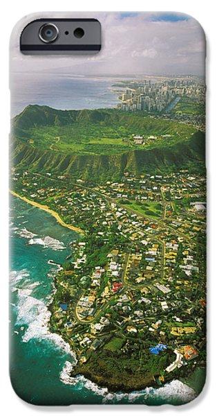 Coastline And Diamond Head IPhone Case by Tomas del Amo - Printscapes