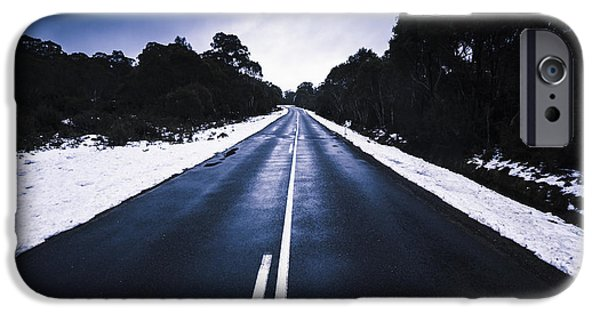 Cold Blue Highway IPhone Case by Jorgo Photography - Wall Art Gallery