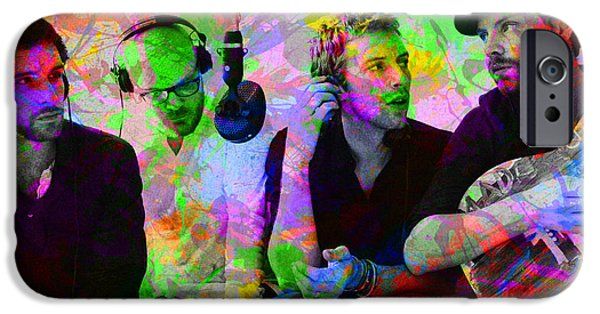 Coldplay Band Portrait Paint Splatters Pop Art IPhone 6s Case by Design Turnpike