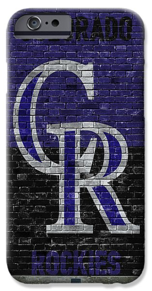 Colorado Rockies Brick Wall IPhone Case by Joe Hamilton