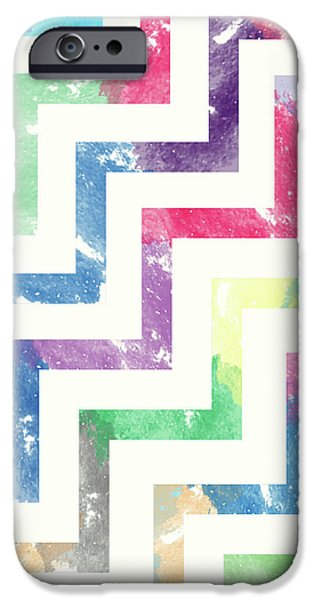 Colorful Geometric Patterns Vi IPhone Case by Amir Faysal