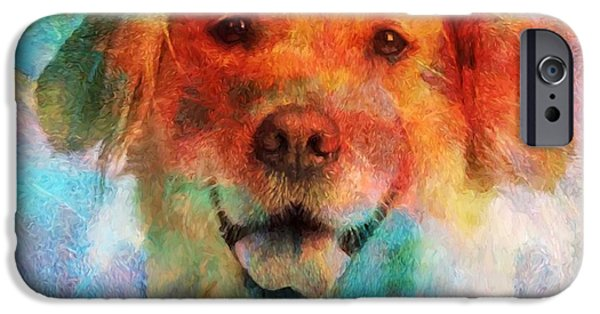 Colorful Lab IPhone Case by Dan Sproul