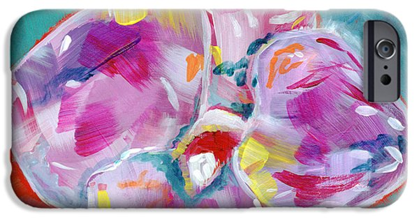 Colorful Orchid- Art By Linda Woods IPhone Case by Linda Woods