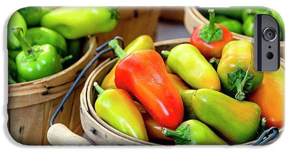 Colorful Peppers IPhone Case by Teri Virbickis