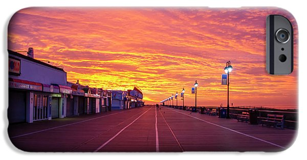 Colorful Skies On The Ocean City Boardwalk IPhone Case by Bill Cannon