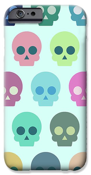Colorful Skull Cute Pattern IPhone Case by Amir Faysal