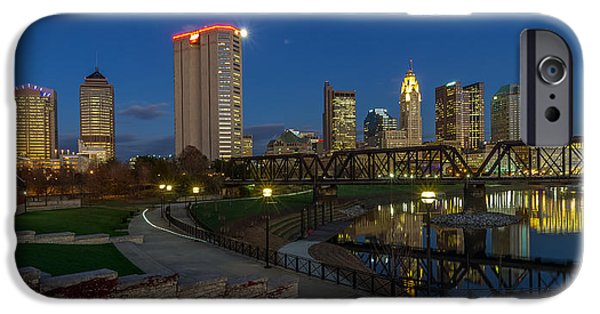 Columbus Ohio Skyline At Dusk Panoramic IPhone Case by Scott McGuire