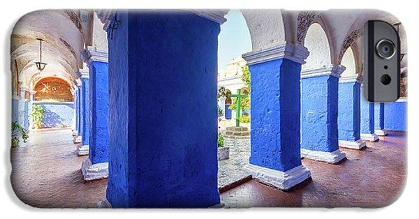 Columns In Santa Catalina Monastery IPhone Case by Jess Kraft