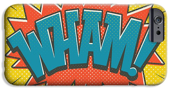 Comic Wham IPhone Case by Mitch Frey
