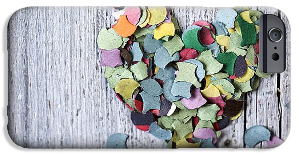 Confetti Heart IPhone Case by Nailia Schwarz