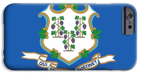 Connecticut State Flag IPhone Case by American School