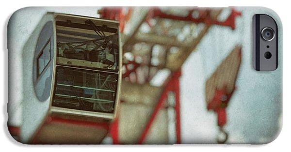 Construction Crane IPhone Case by Wim Lanclus