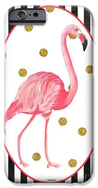 Contemporary Flamingos 2 IPhone 6s Case by Debbie DeWitt