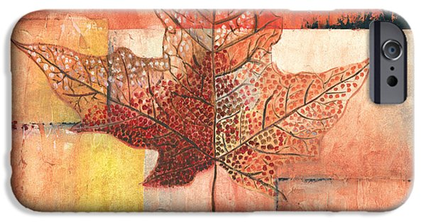 Contemporary Leaf 2 IPhone Case by Debbie DeWitt