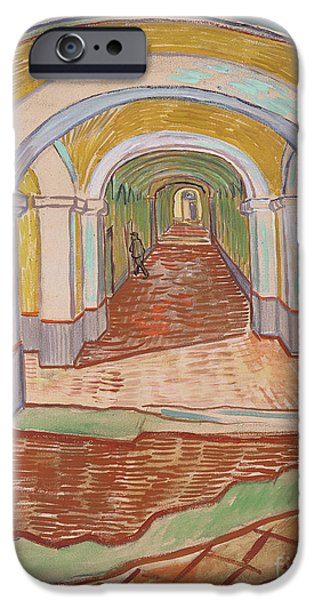 Corridor In The Asylum, September 1889 IPhone Case by Vincent van Gogh