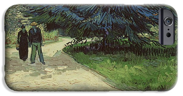 Couple In The Park IPhone Case by Vincent Van Gogh