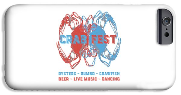 Crab Fest Tee IPhone Case by Edward Fielding