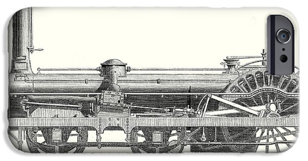 Crampton Locomotive IPhone Case by English School