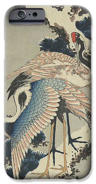 Cranes On Pine IPhone 6s Case by Hokusai