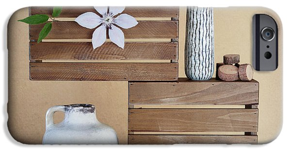 Crates With Flower Still Life IPhone Case by Tom Mc Nemar