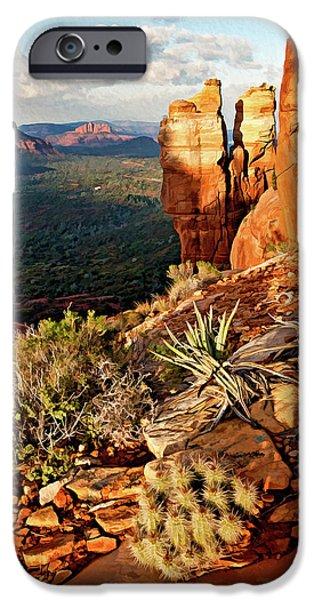 Crimson Cliffs 08-064 IPhone Case by Scott McAllister