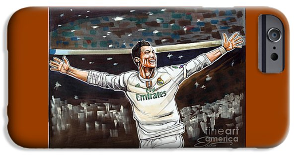Cristiano Ronaldo Of Real Madrid IPhone 6s Case by Dave Olsen