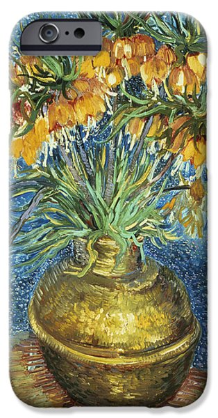 Crown Imperial Fritillaries In A Copper Vase IPhone Case by Vincent Van Gogh