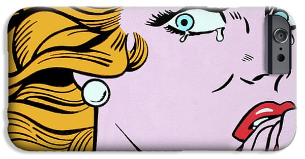 Crying Girl IPhone Case by Luis Ludzska