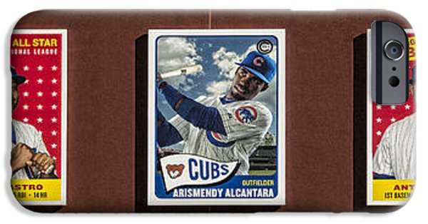 Cubs Card Collection IPhone Case by Stephen Stookey