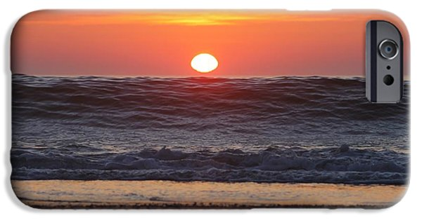 Curling Wave At Sunrise IPhone Case by Robert Banach
