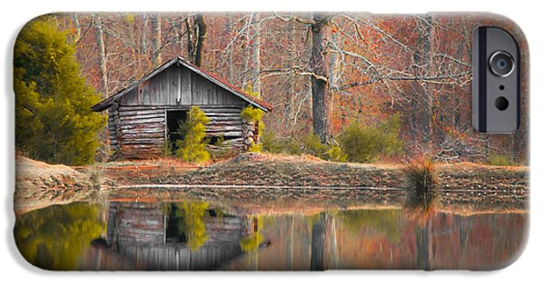 Custom Crop - Cabin By The Lake IPhone Case by Shelby  Young