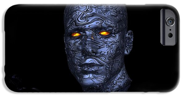 Cyber Man  IPhone Case by FL collection
