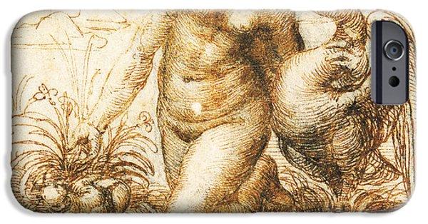 Da Vinci Leda And The Swan Remastered By Da Vinci IPhone Case by Tony Rubino