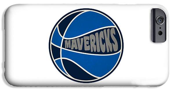 Dallas Mavericks Retro Shirt IPhone Case by Joe Hamilton