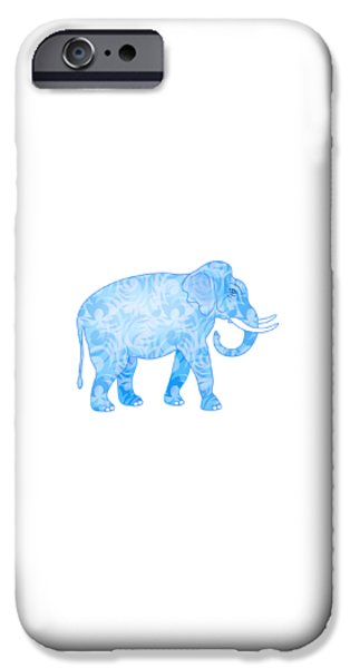 Damask Pattern Elephant IPhone Case by Antique Images
