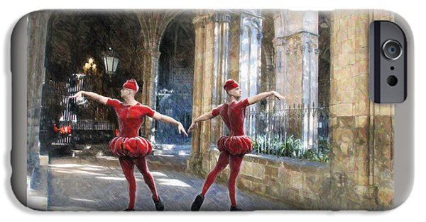 Dance Of The Swiss Guard IPhone Case by Joaquin Abella