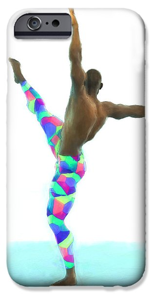 Dancer Colorful IPhone Case by Quim Abella
