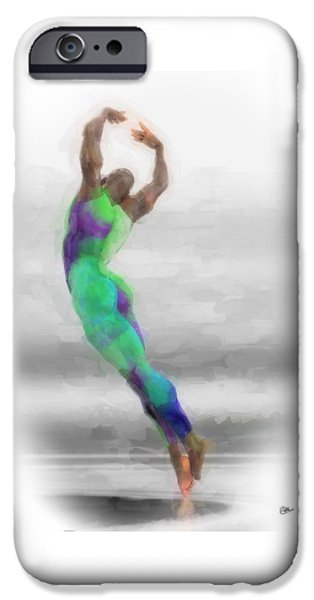 Dancer In Watercolours IPhone Case by Quim Abella