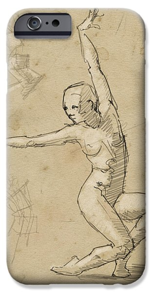 Dancer Study IPhone Case by H James Hoff